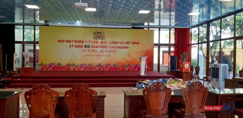 Thi công backdrop hội nghị
